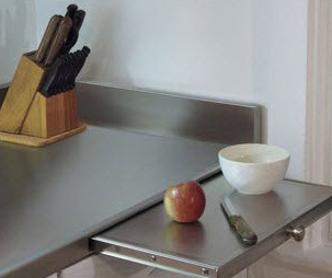 Slide Out Stainless Steel Food Prep Cutting Board Countertop