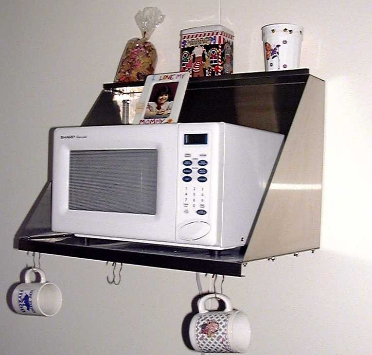 How To Build A Wall Shelf For Microwave